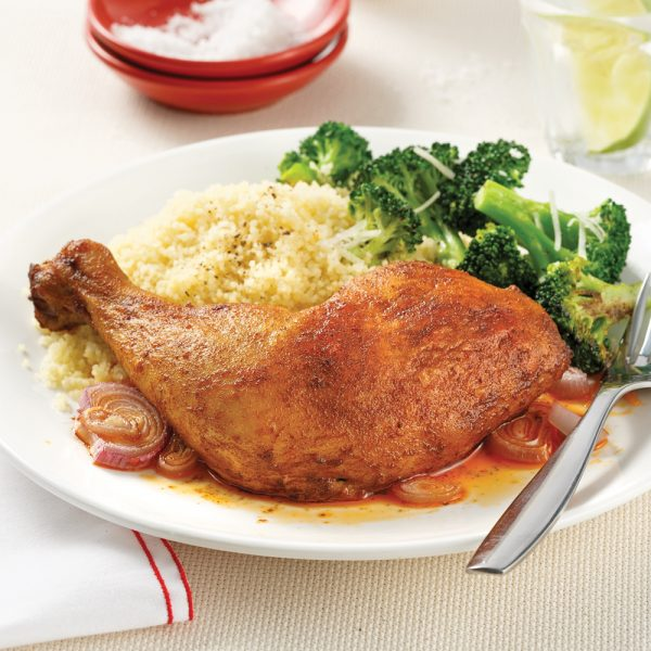 Cuisses de poulet échalotes et paprika