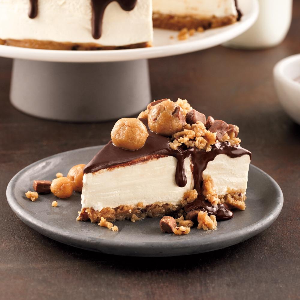 Cheesecake sans cuisson à la pâte à biscuits aux pépites de chocolat