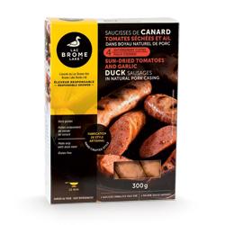 saucisses de canard tomates séchées et ail Canards du Lac Brome