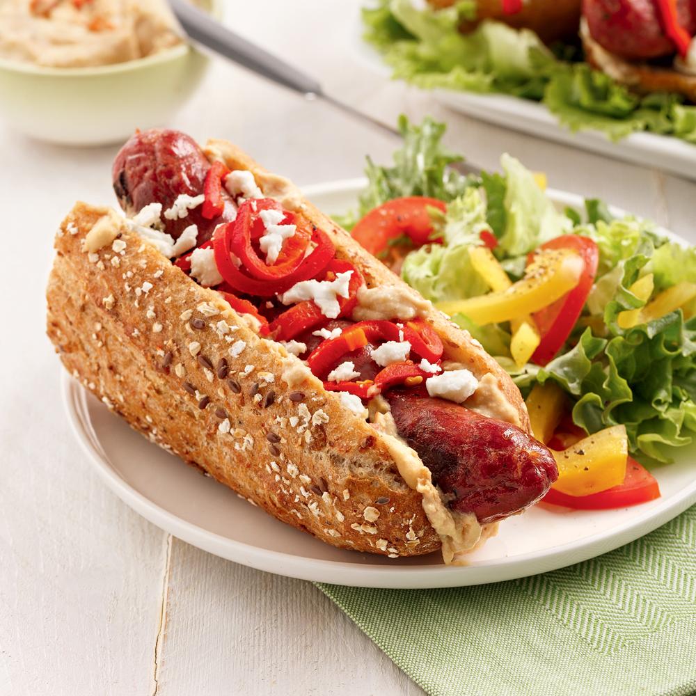 Hot-dog à la saucisse de canard
