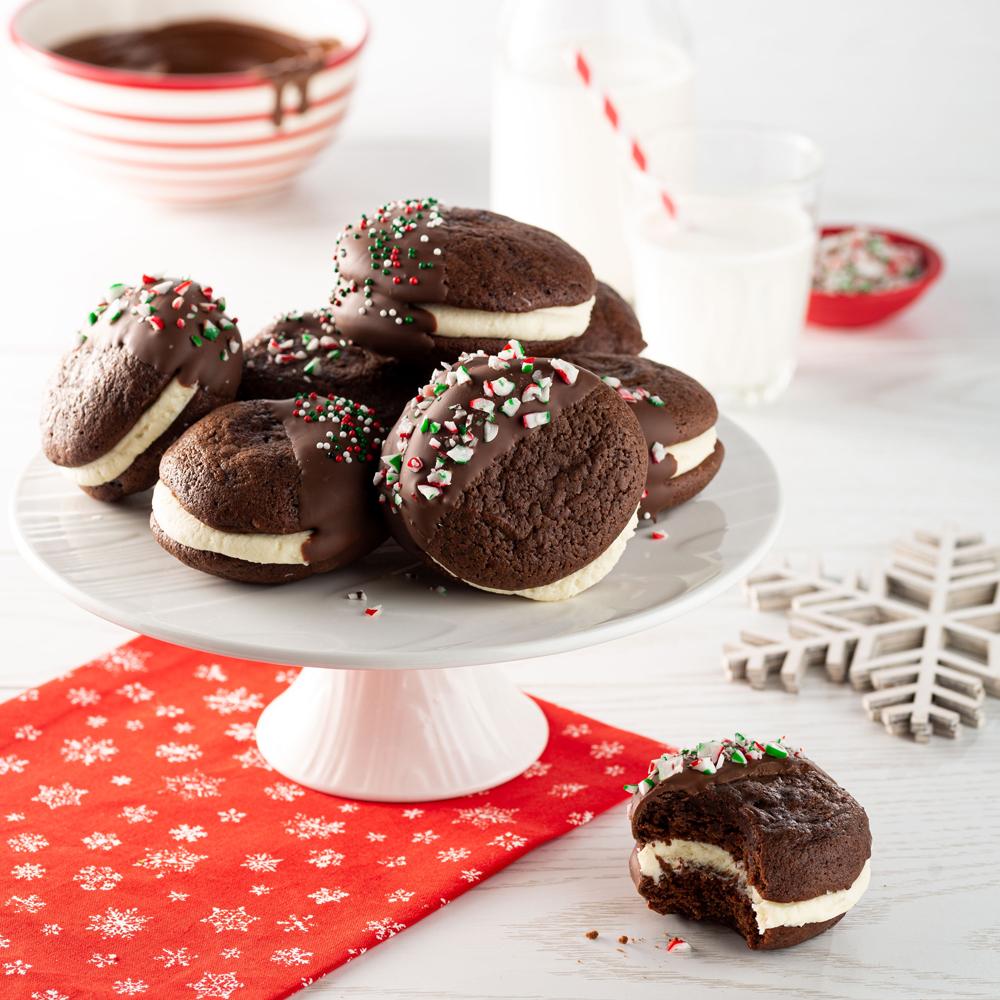 Whoopie pies aux trois chocolats