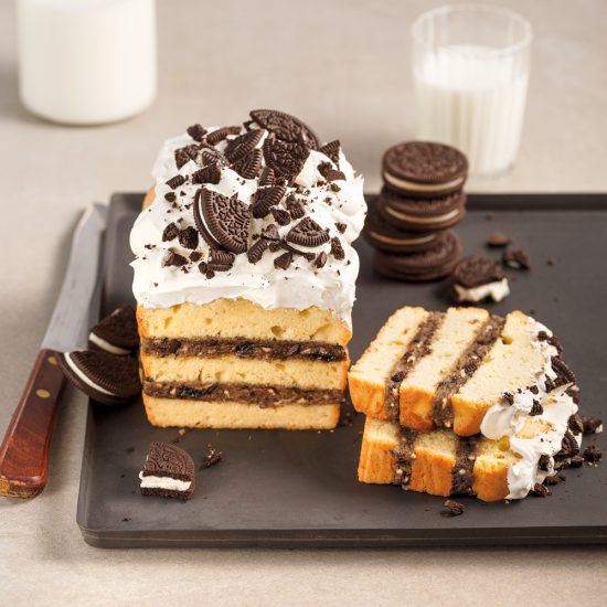 Gâteau quatre-quarts à la pâte à biscuits