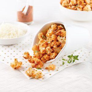 Popcorn de chou-fleur gratiné