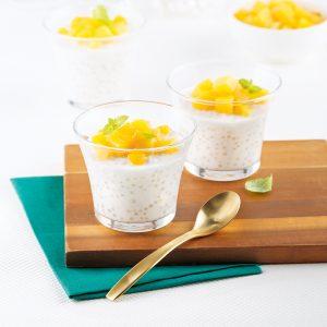 Tapioca au lait de coco et mangues