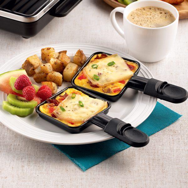 Raclette omelette déjeuner