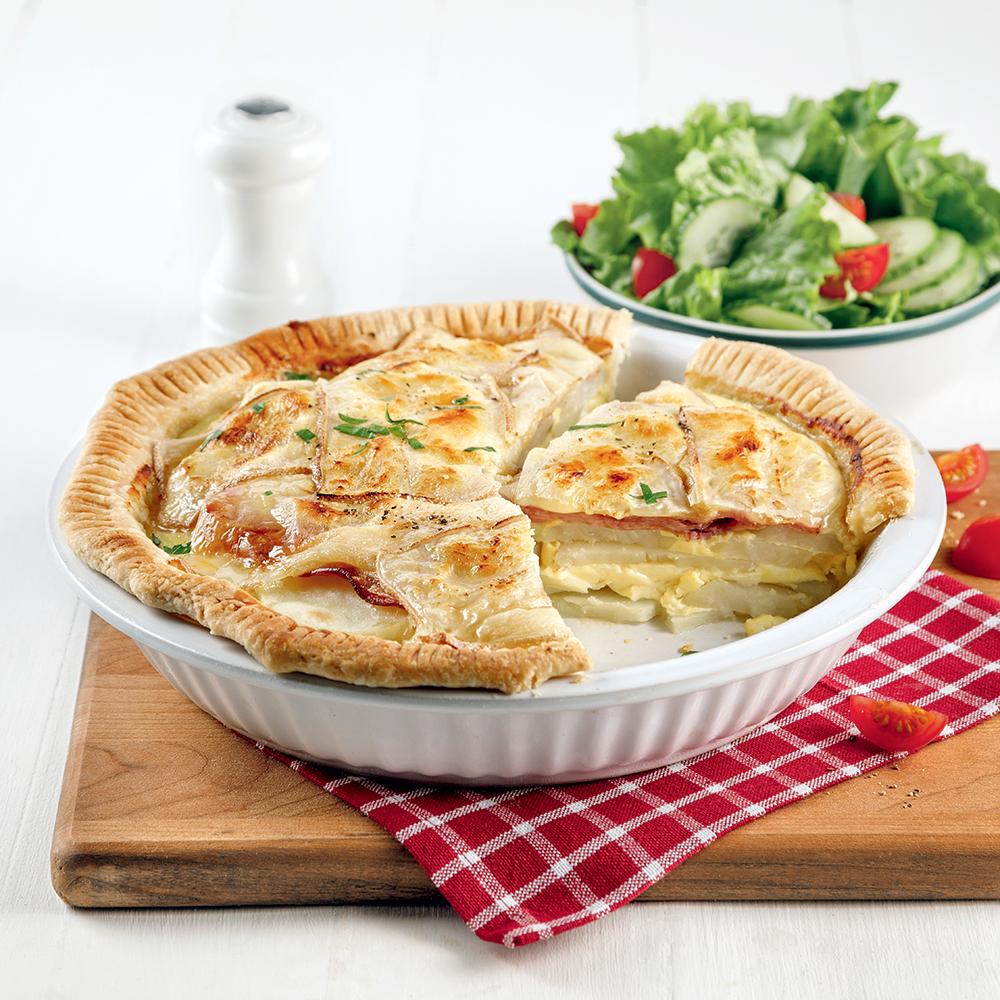 Tarte style raclette aux pommes de terre et jambon