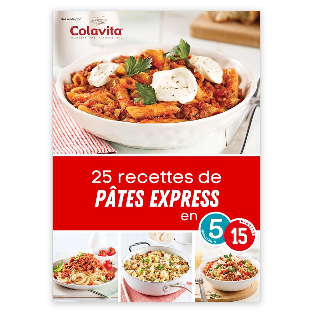 Magazine numérique: 25 recettes de pâtes express en 5-15