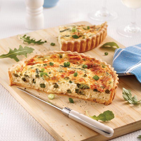 Quiche aux asperges et fromage