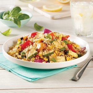 Salade de légumes grillés et quinoa