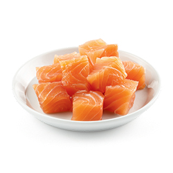 cubes de saumon