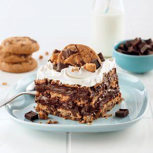 Gâteau frigidaire aux biscuits aux morceaux de chocolat