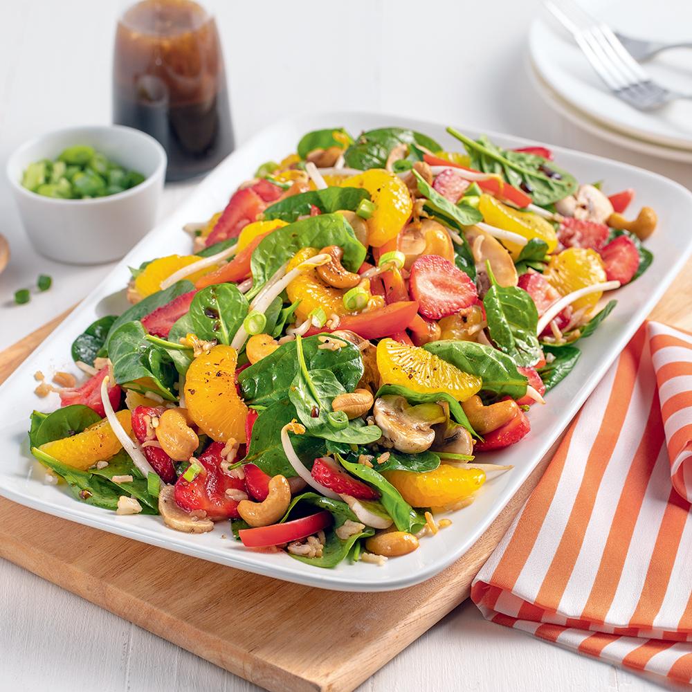 Salade d'amour pamplemousse et fraises