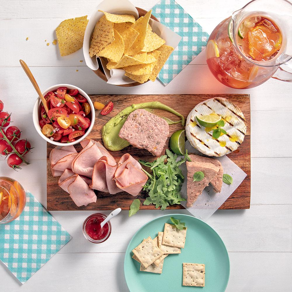 Une planche-repas fraîcheur parfaite pour l'été!