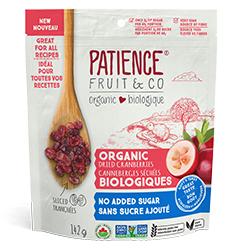 Canneberges séchées Patience Fruit & Co