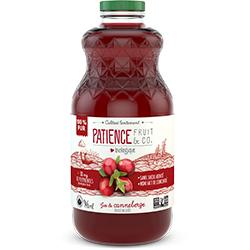Jus de canneberges Patience Fruit & Co
