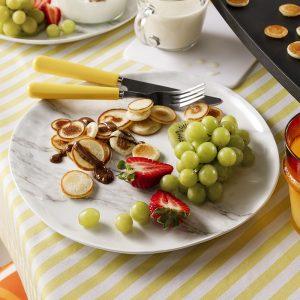 Mini-pancakes sur poêle à raclette