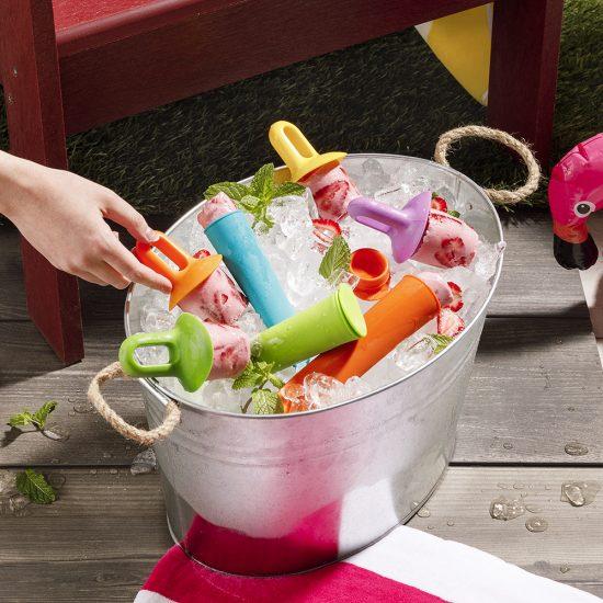 Popsicles fraises-yogourt