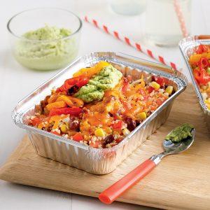 Barquettes de quinoa aux haricots rouges et au fromage
