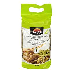 Nouilles asiatiques au thé vert Haiku