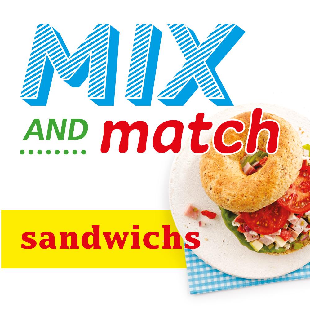 Mix and match sandwichs