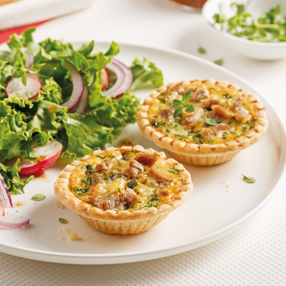 Mini-quiches au canard confit