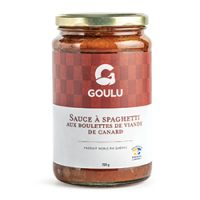 Sauce à spaghetti aux boulettes de viande de canard du Canard Goulu