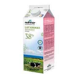 Lait nordique biologique 3,8% Nutrinor
