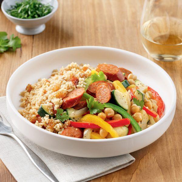 Couscous aux merguez et légumes