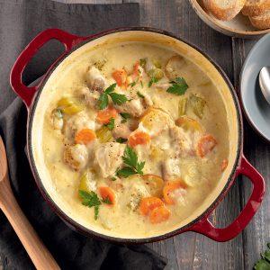 Ragoût de poulet ail et parmesan