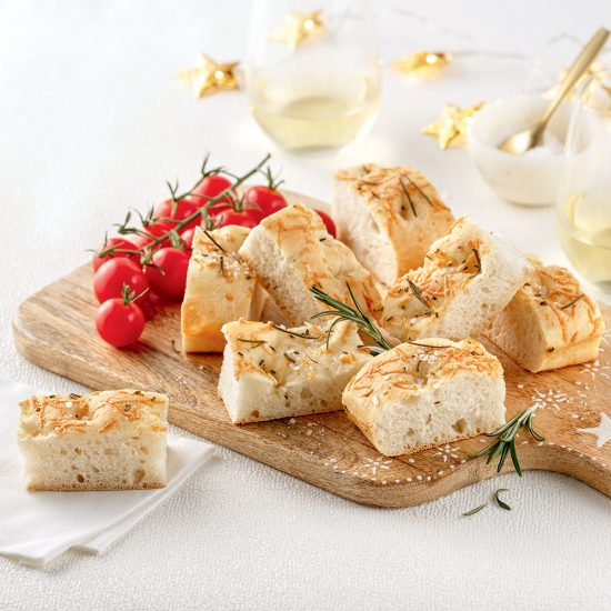Focaccia à l'huile d'olive et romarin