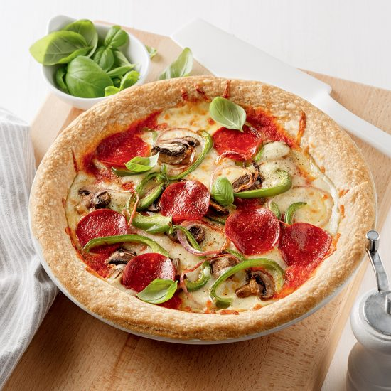 Quiche-pizza