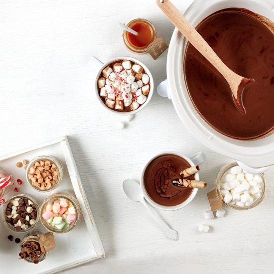 Bar à chocolat chaud à la mijoteuse