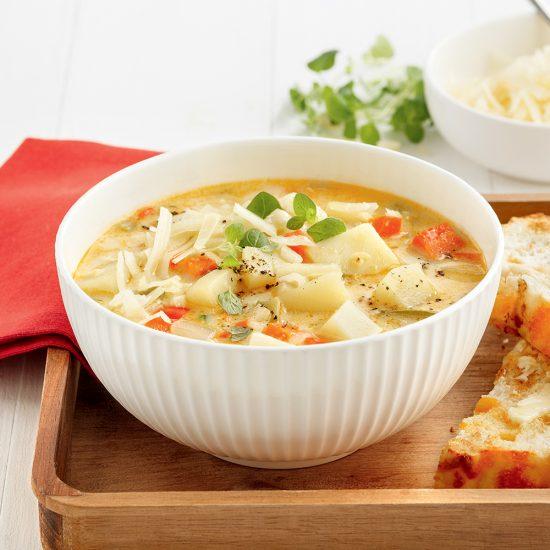 Soupe-repas aux pommes de terre et à la bière