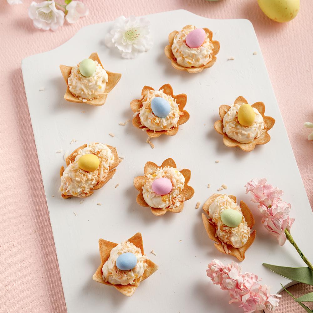 Petits nids de Pâques au gâteau au fromage