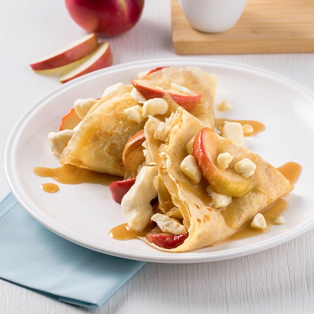 Crêpes sucrées-salées aux pommes