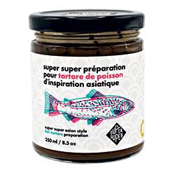 Préparation pour tartare de poisson d'inspiration asiatique Super Super