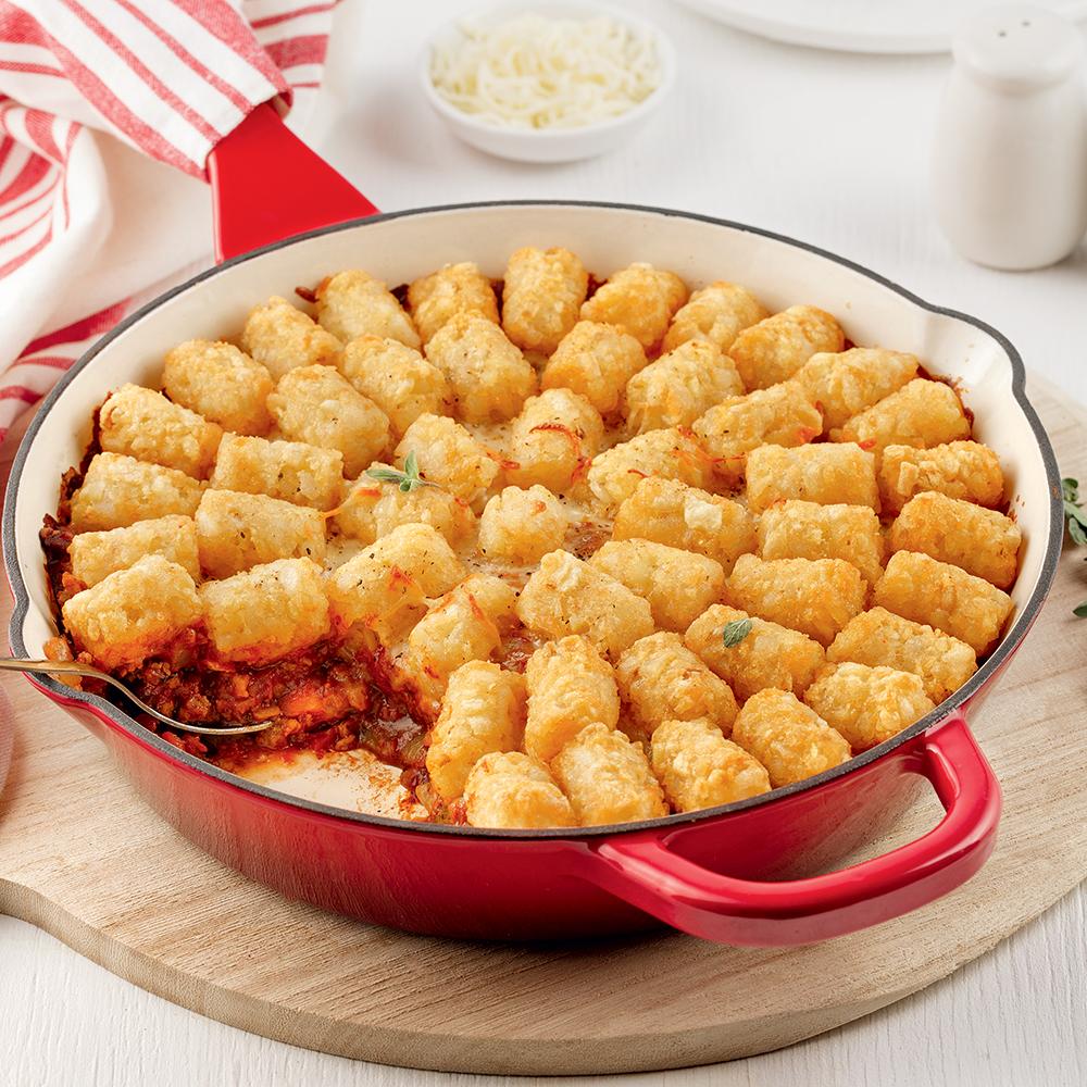 Casserole végé aux pommes de terre croustillantes