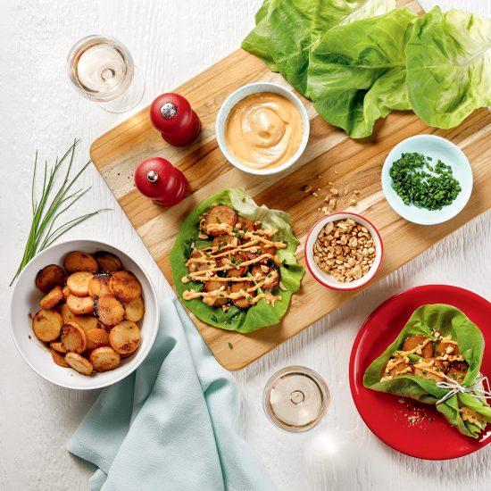 Wraps de laitue style barbecue coréen