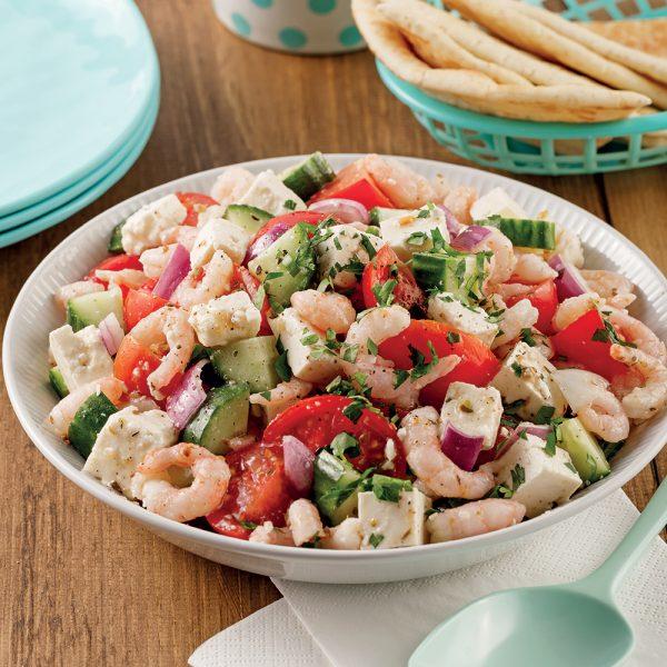 Salade grecque aux crevettes