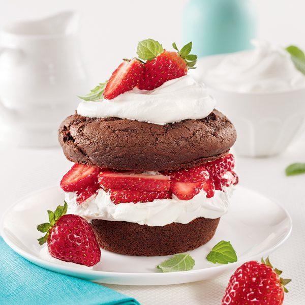 Mini-shortcakes choco-fraises