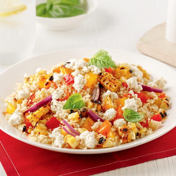 Salade de couscous et maïs grillé