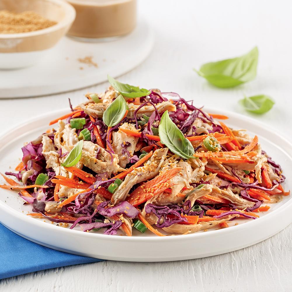 Salade de poulet au miso