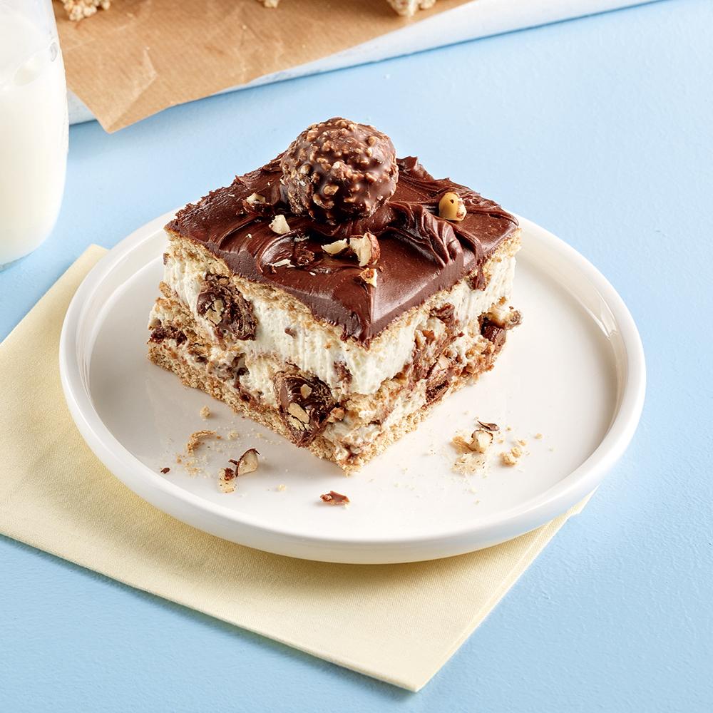 Gâteau frigidaire vanille et Ferrero Rocher