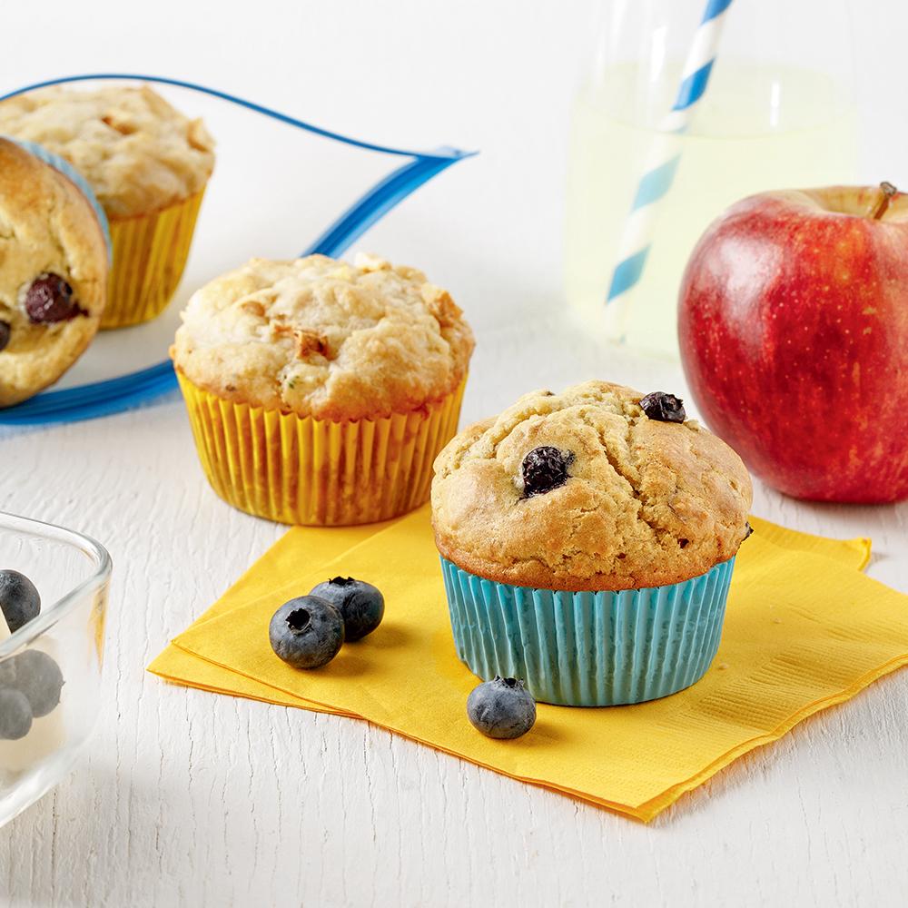 Duo de muffins sucrés et salés