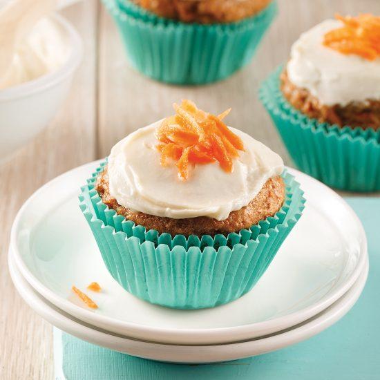 Muffins gâteau aux carottes