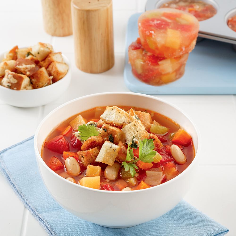 Soupe minestrone à congeler