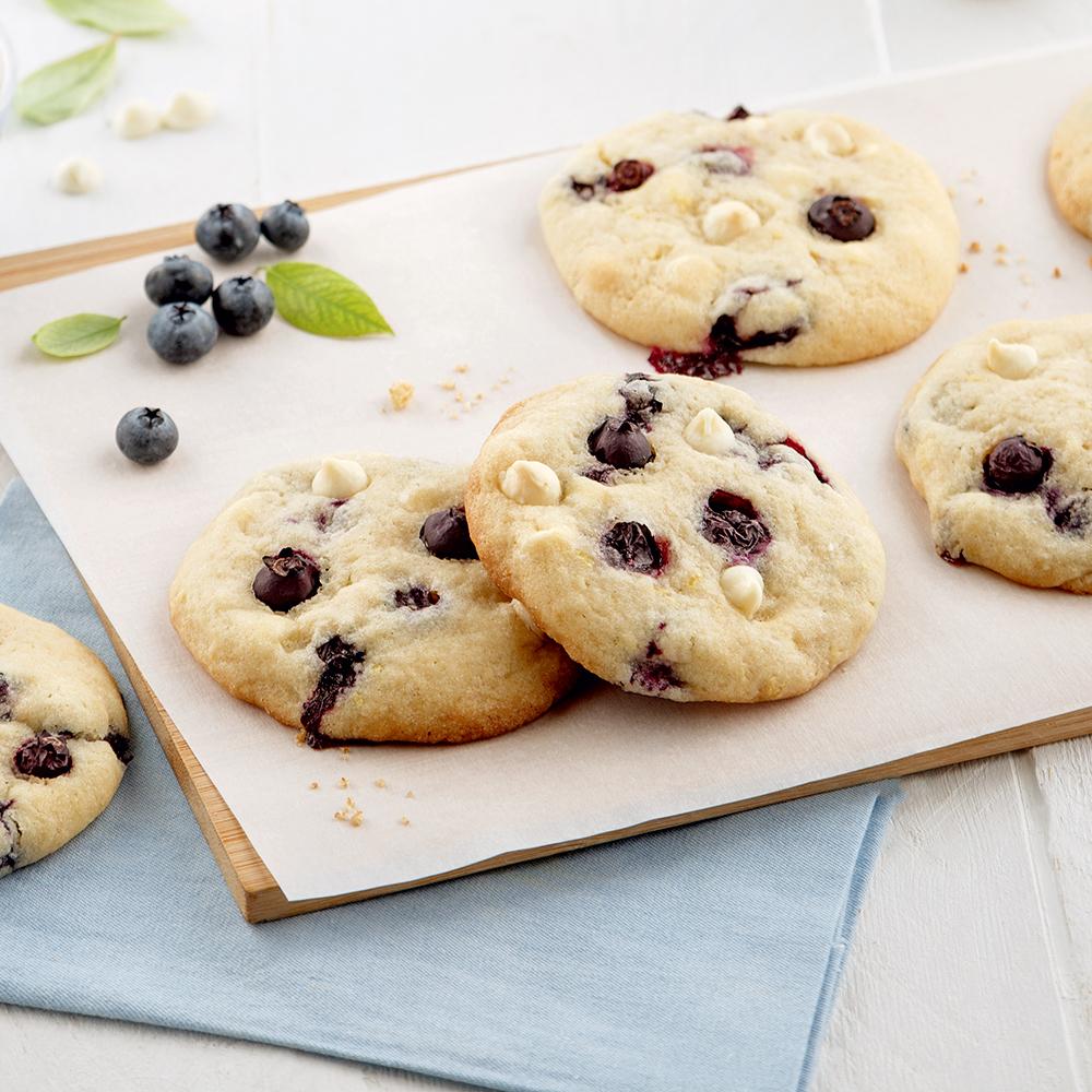 Biscuits aux bleuets et chocolat blanc