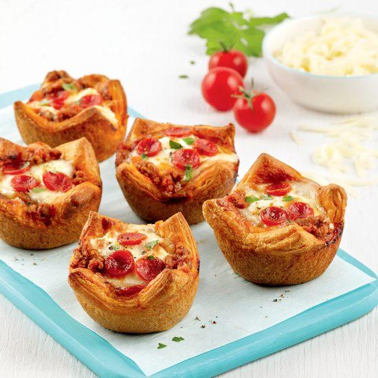 Mini-pizzas boeuf et pepperoni