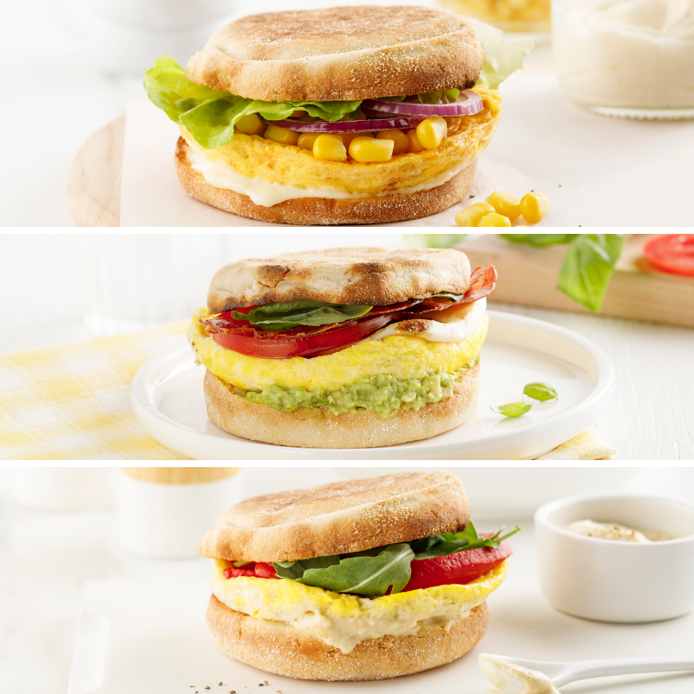 Sandwichs déjeuner 3 façons