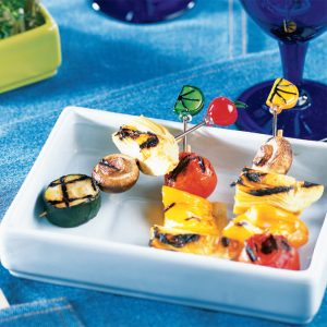 Mini-brochettes végétariennes